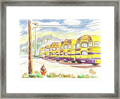 School Bussiness Framed Print by Kip DeVore