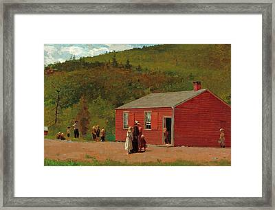 School Time Framed Print by Winslow Homer