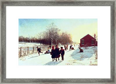 School's Out Framed Print by Samuel S Carr