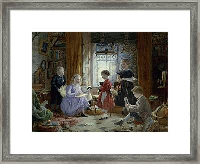 Schooltime Framed Print by William Jabez Muckley