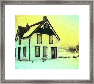 Schubert House Framed Print by Kathy Bassett