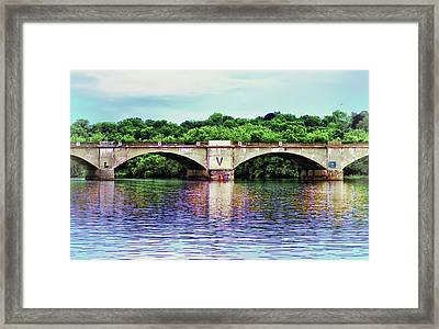 Schuylkill River Framed Print by Bill Cannon