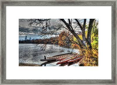 Schuylkill Skyline Framed Print by Mark Ayzenberg