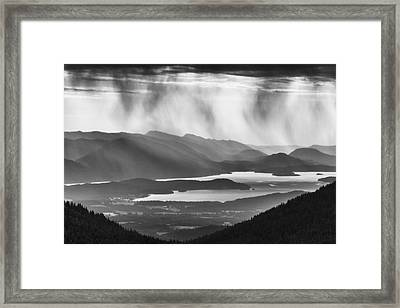 Schweitzer Mountain Storm Framed Print by Mark Kiver