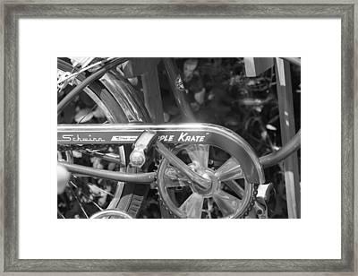 Schwinn Apple Krate Framed Print by Lauri Novak