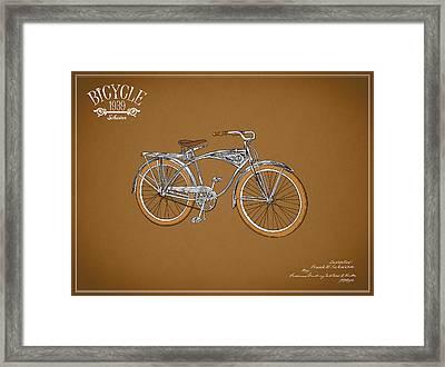 Schwinn Bicycle 1939 Framed Print by Mark Rogan