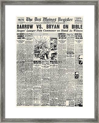 Scopes Trial, 1925 Framed Print by Granger