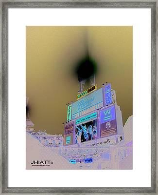 Scoreboard Framed Print by Justin Hiatt
