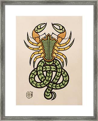 Scorpio Framed Print by Ian Herriott