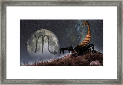 Scorpio Zodiac Symbol Framed Print by Daniel Eskridge