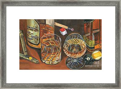 Scotch Cigars And Poll Framed Print by Debbie DeWitt