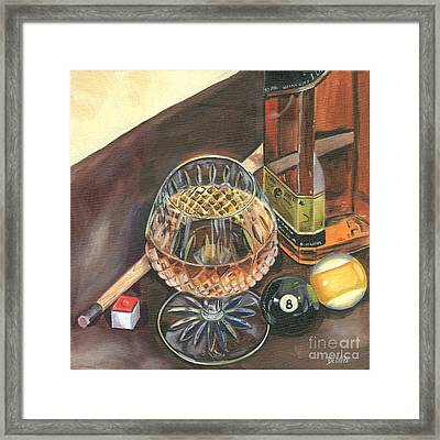 Scotch Cigars And Pool Framed Print by Debbie DeWitt