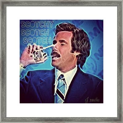 Scotchy Scotch Scotch Framed Print by J S