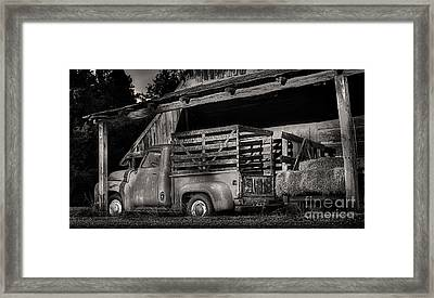 Scotopic Vision 5 - The Barn Framed Print by Pete Hellmann