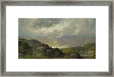 Scottish Landscape Framed Print by Gustave Dore