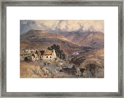 Scottish Landscape Framed Print by Sir Joseph Noel Paton