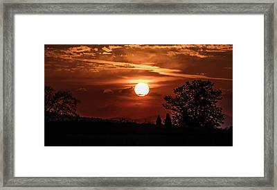 Scottish Sunset Framed Print by Buster Brown