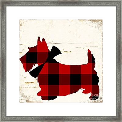 Scottish Terrier Tartan Plaid Framed Print by Mindy Sommers