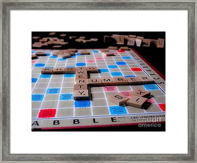 Scrabble Framed Print by Valerie Morrison