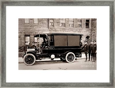 Scranton Pennsylvania  Bureau Of Police  Paddy Wagon  Early 1900s Framed Print by Arthur Miller