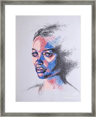 Scratched  Framed Print by Fithi Abraham