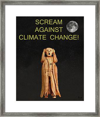 Scream Against Climate Change Framed Print by Eric Kempson