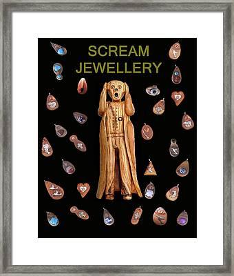 Scream Jewellery Framed Print by Eric Kempson