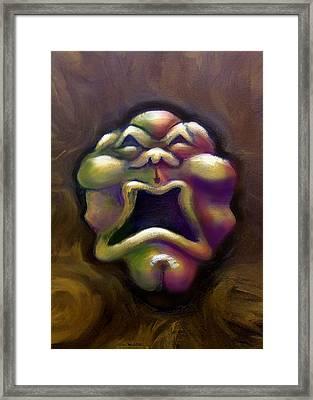 Scream Framed Print by Kevin Middleton