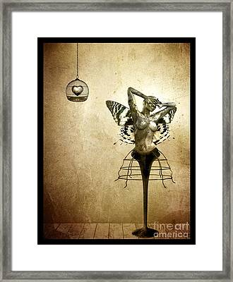 Scream Of A Butterfly Framed Print by Jacky Gerritsen