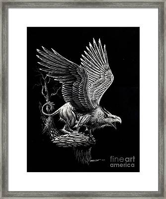 Screaming Griffon Framed Print by Stanley Morrison