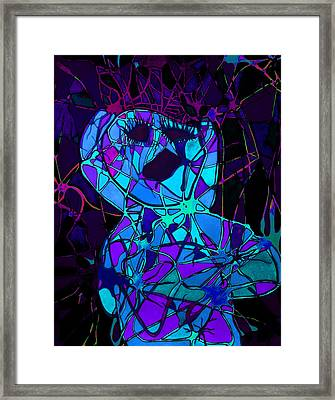 Screaming In Pain Framed Print by Megan Howard