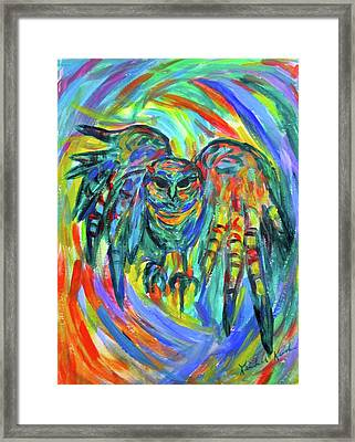 Screech Stage One Framed Print by Kendall Kessler