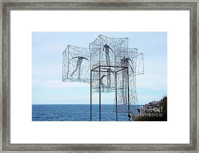 Sculpture By The Sea - Listen Time Passes By Kaye Menner Framed Print by Kaye Menner
