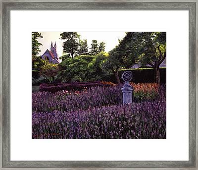 Sculpture Garden Framed Print by David Lloyd Glover