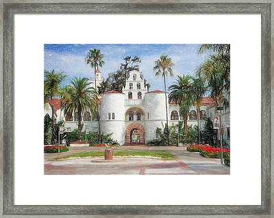 Sdsu Drawing Framed Print by Nancy Ingersoll