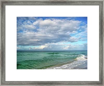 Sea And Sky - Florida Framed Print by Sandy Keeton