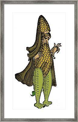Sea Bishop, Legendary Monster, 16th Framed Print by Science Source