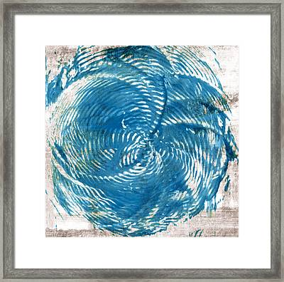 Sea Blue Abstract Framed Print by Frank Tschakert