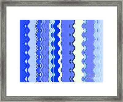 Sea Blue Wave Tapestry Framed Print by Ann Johndro-Collins