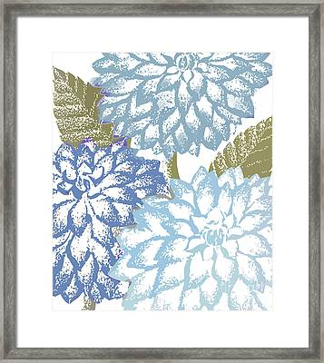 Sea Dahlias I Framed Print by Mindy Sommers