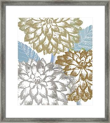 Sea Dahlias II Framed Print by Mindy Sommers
