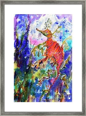 Sea Dragon Wonderland Framed Print by Ginette Callaway