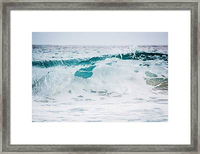 Sea Foam Framed Print by Shelby Young