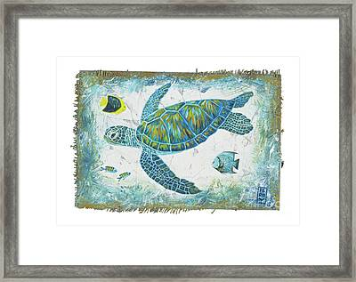 Sea Green Framed Print by Danielle Perry