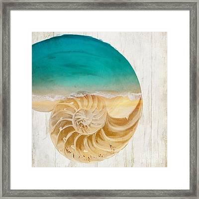 Sea In My Hand Framed Print by Mindy Sommers