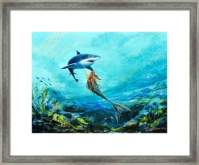Sea Life Framed Print by Gina De Gorna