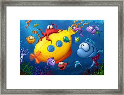 Sea Life Framed Print by Tooshtoosh