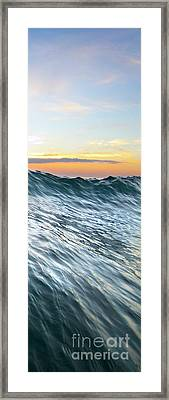 Sea Mountain - Part 3 Of 3 Framed Print by Sean Davey