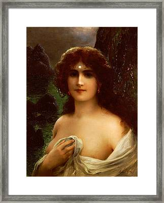 Sea Nymph Framed Print by Emile Vernon