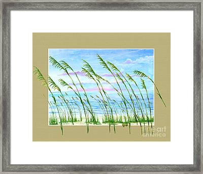 Sea Oats And Sea Framed Print by Kevin Brant